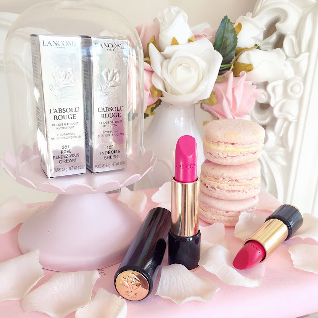 New In   Lancome L'Absolu Rouge Lipsticks