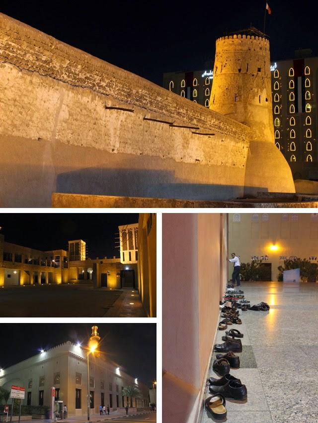 Arriba, el fuerte Al Fahidi; debajo, la casa de Sheikh Saeed Al Maktoum y sus torres del viento, y la Gran Mezquita