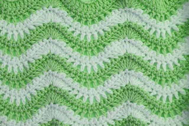 4 - Crochet Puntada ondas combinada a crochet y ganchillo por Majovel Crochet paso a paso