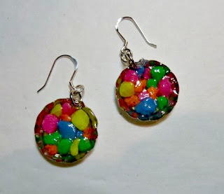 aquarium gravel earrings