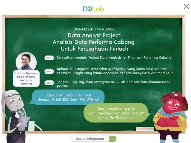 Challenge dengan Reward di DQLab