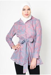 Model Batik Muslim Kerja