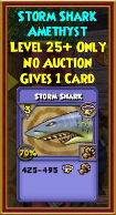 Storm Shark - Wizard101 Card-Giving Jewel Guide