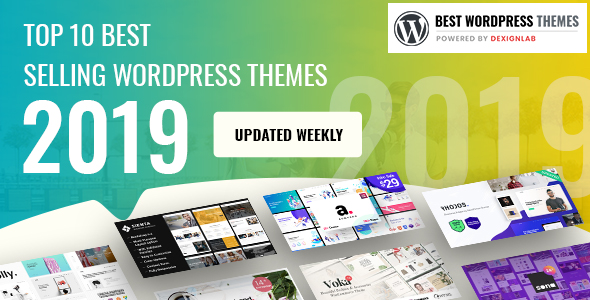 Top Best Creative WordPressTheme 2019 - Updated Weekly [Best Selling]