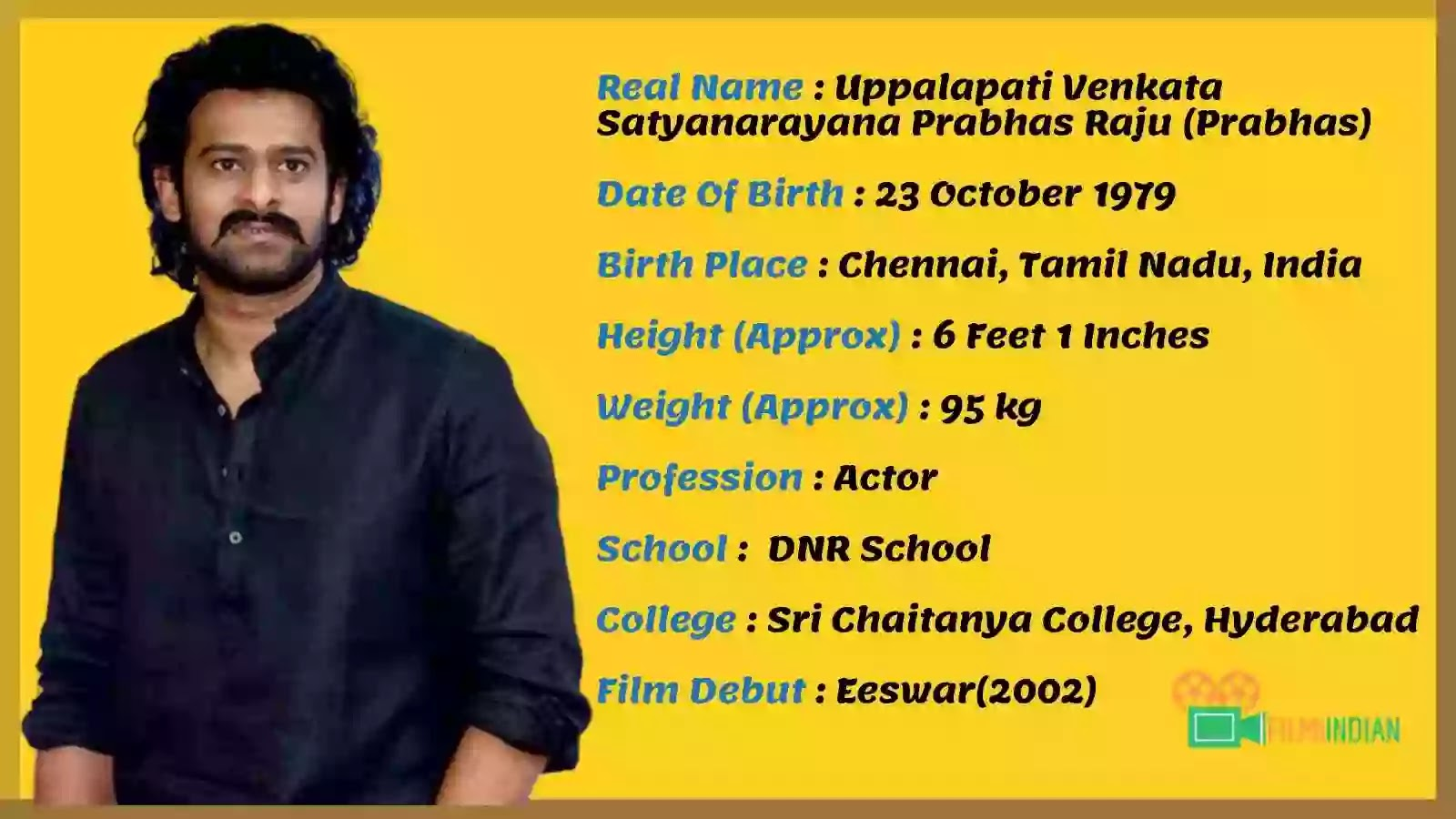 Prabhas Age : Prabhas Best Biography (2020), Family, wife, Children, life story, Profile and Weight
