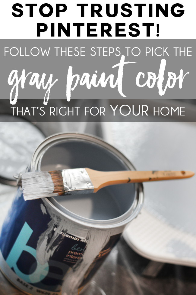 Step by step how to pick gray paint