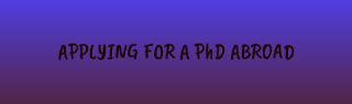 how to apply for phd abroad