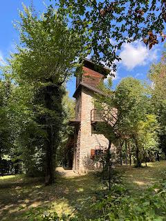 A tower in a roccolo in Ponteranica