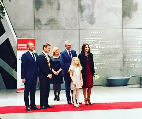 Crown Princess Mary of Denmark attended the TV2 Christmas Show at House of Music in Aalborg, Denmark.