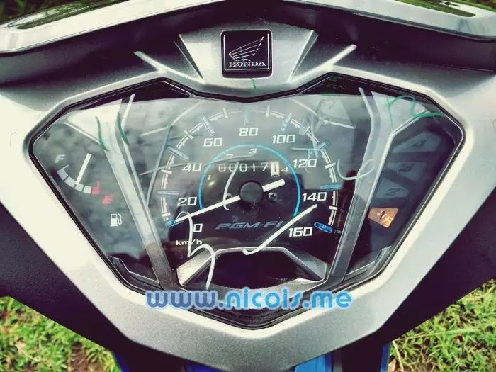Tampilan dashboard speedometer New Supra X 125 FI 2014