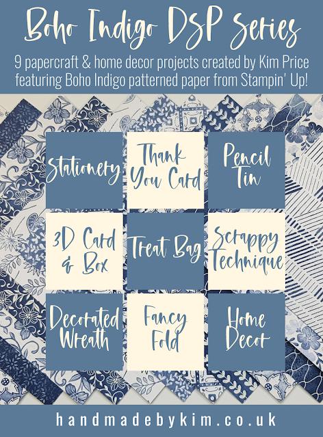 Boho Indigo Papercraft Series