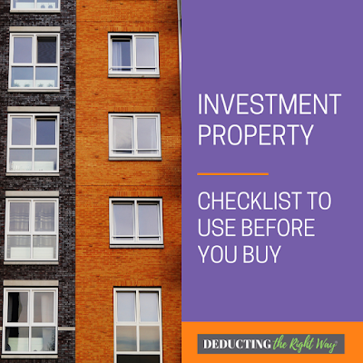 What to do when you're purchasing a rental property | www.deductingtherightway.com