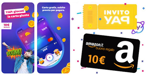 Yap: Buoni Amazon fino a 20€ + Iscrizione Cashback di stato senza SPID e app IO Banner-yap-10%25E2%2582%25AC-buono-Amazon