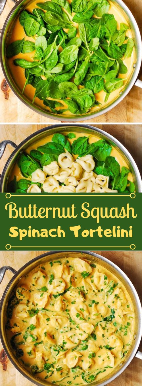 BUTTERNUT SQUASH AND SPINACH TORTELLINI #spinach #vegan #easy #healthyrecipes #vegetarian