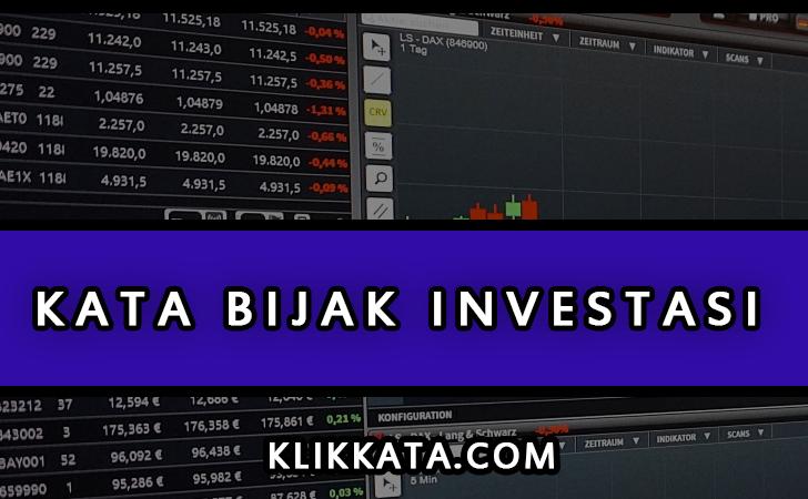 Kata Kata Investasi
