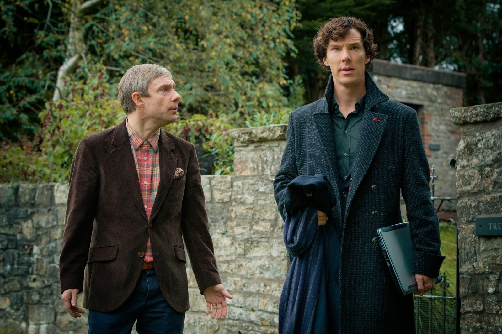 Benedict Cumberbatch and Martin Freeman as Sherlock Holmes and John Watson in BBC Sherlock Season 3 Episode 3 His Last Vow