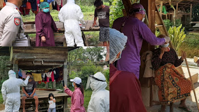 Polres Toraja Utara Terus Dampingi Giat Tracer covid-19