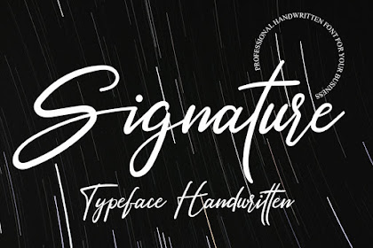 Signature Font - Best Signature font  for your business