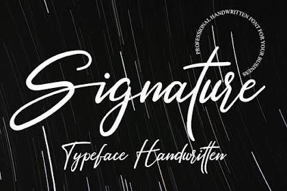 Signature Font - Best Signature font  for your business
