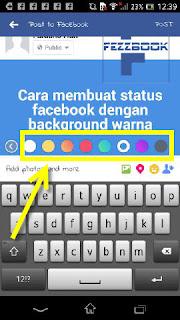 cara membuat status background warna hijau kuning ungu merah android