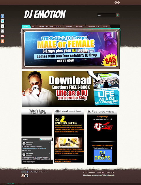 DJ Emotion Web Development on Weebly