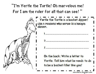 Yertle the Turtle Freebie