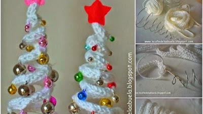 Arbol de Navidad de Tricotin con Alambre