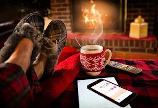 cosy room in winter season