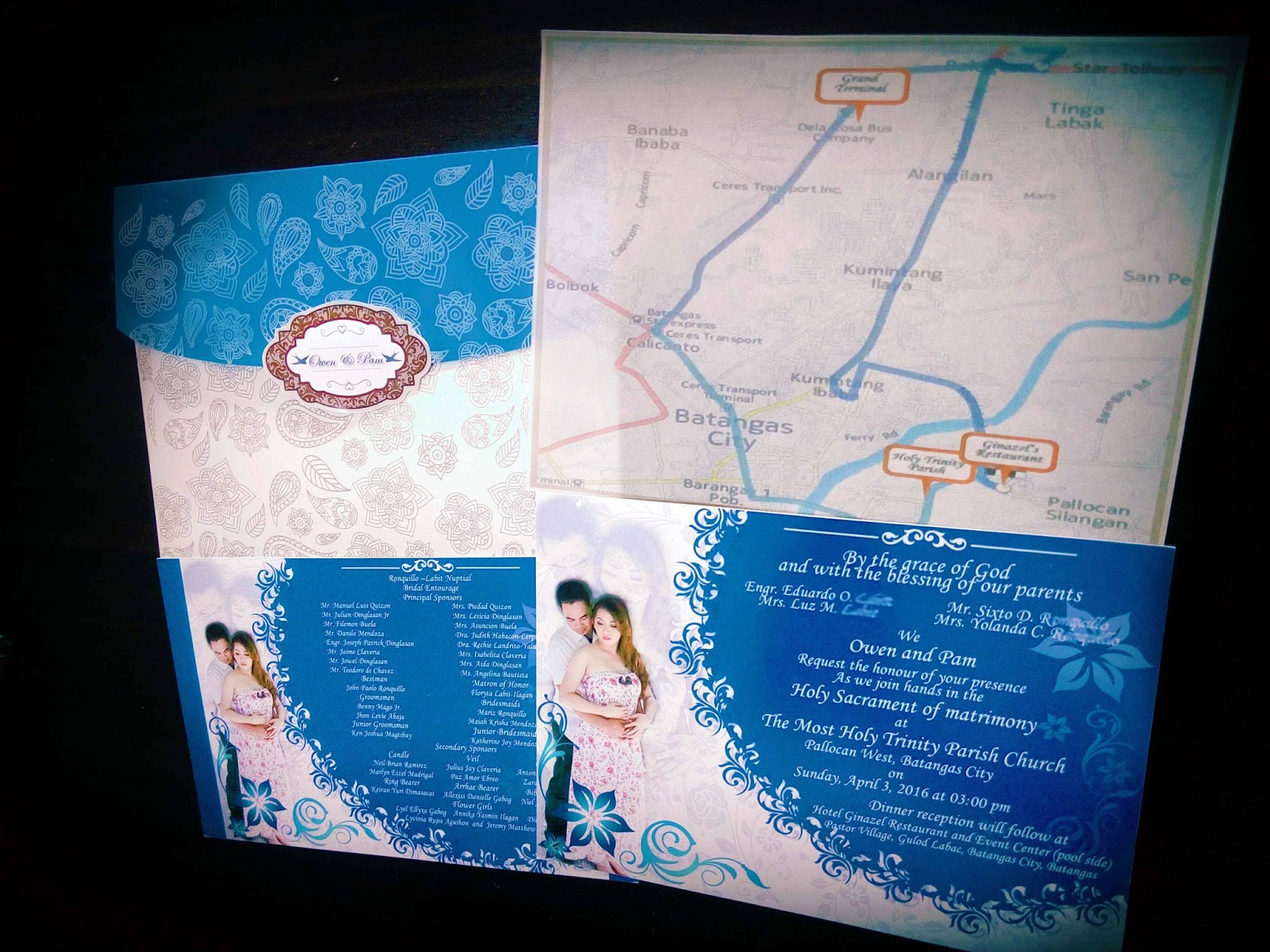 Wedding Invitation Royal Blue Motif ~ Yaseen for .