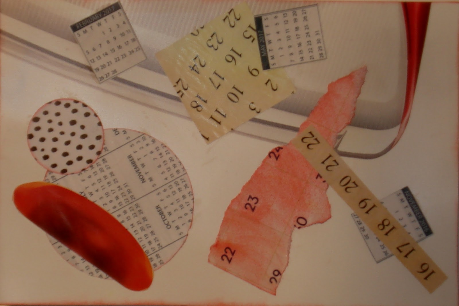 Mail Me Some Art Calendar Bits Collage Post Card Swap Postmark By