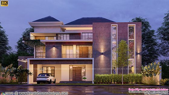 Elegant modern style luxury house with 6 bedrooms