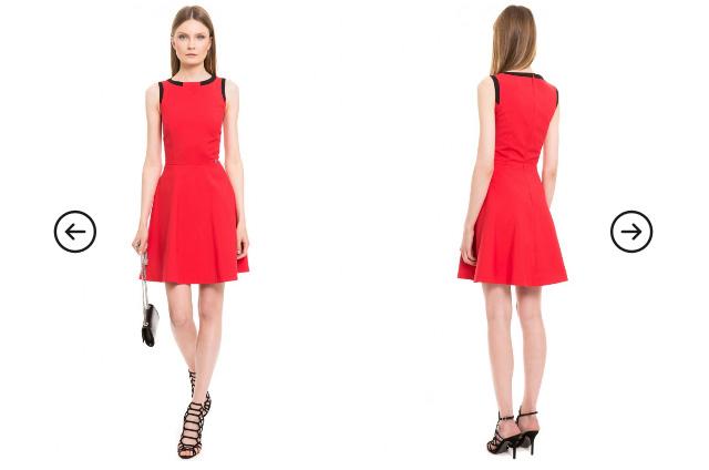 Rochie Simple rosie scurta de eleganta de zi / ocazii
