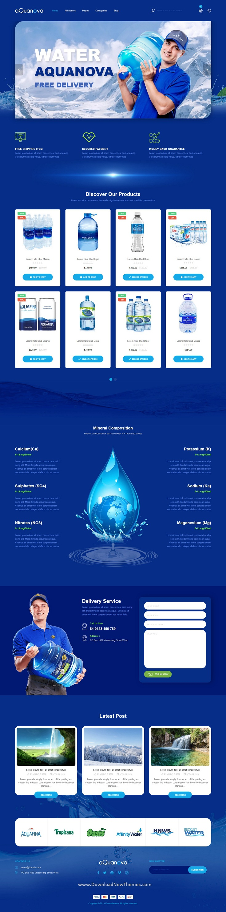 Bottled Drinking Water Shopify Theme