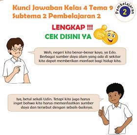 Kunci Jawaban Kelas 4 Tema 9 Subtema 2 Pembelajaran 2 www.simplenews.me