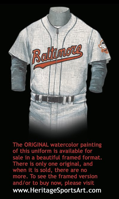 hot sale online a1888 0b986 Baltimore Orioles Uniform and Team History | Heritage ...