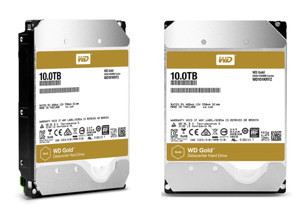 WD Gold Datacenter Hard Drives 10TB
