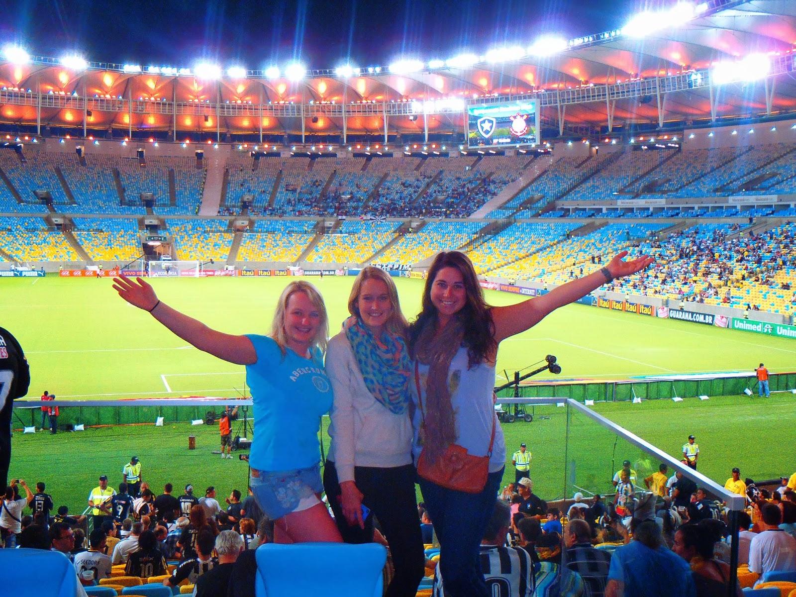 A Brazilian Football Game at Maracana Stadium in Rio de Janeiro