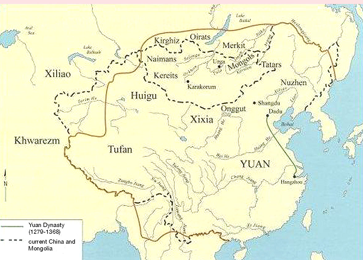 Modern Day China Map.Shabeer Yuan Dynasty Map Of Yuan Dynasty