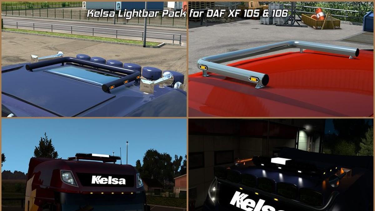 DAF XF 105 & 106 Kelsa Lightbars V1.7 [1.31]