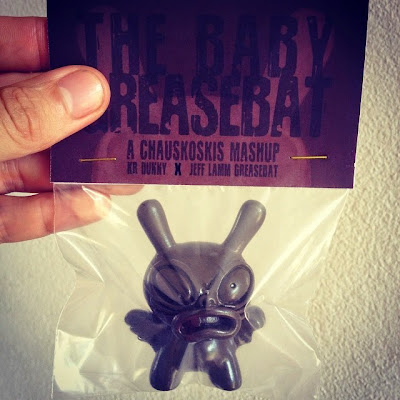 S.A.S. Edition Chocolate Brown Baby Greasebat Dunny Resin Figure by Chauskoskis