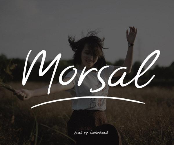 Brush font terbaik 2017 - Morsal – Free Brush Font