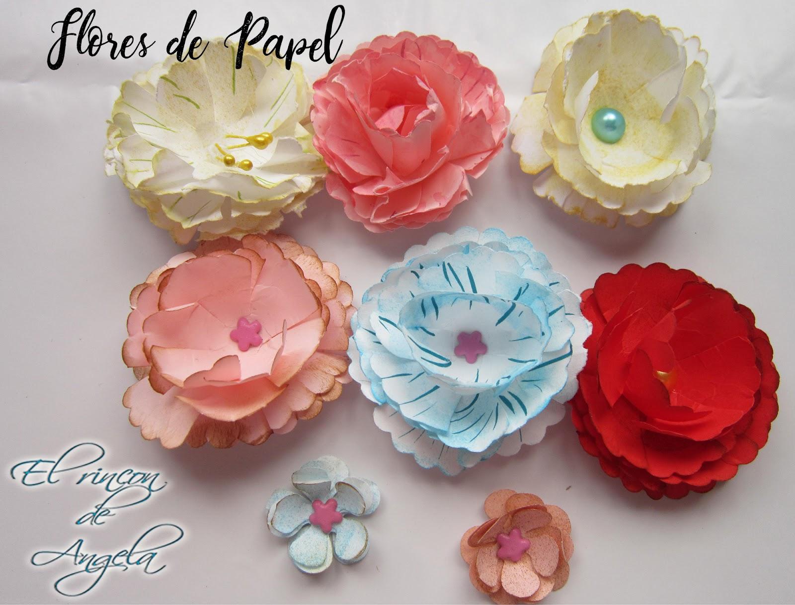 El Rincon de Angela Como hacer flores de papel estilo vintage muy facil