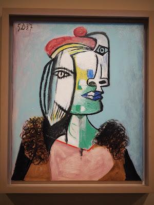Marie-Thérèse au béret rouge et au col de fourrure / Picasso , 5 décembre 1937 ; Huile sur toile  per Teresa Grau Ros