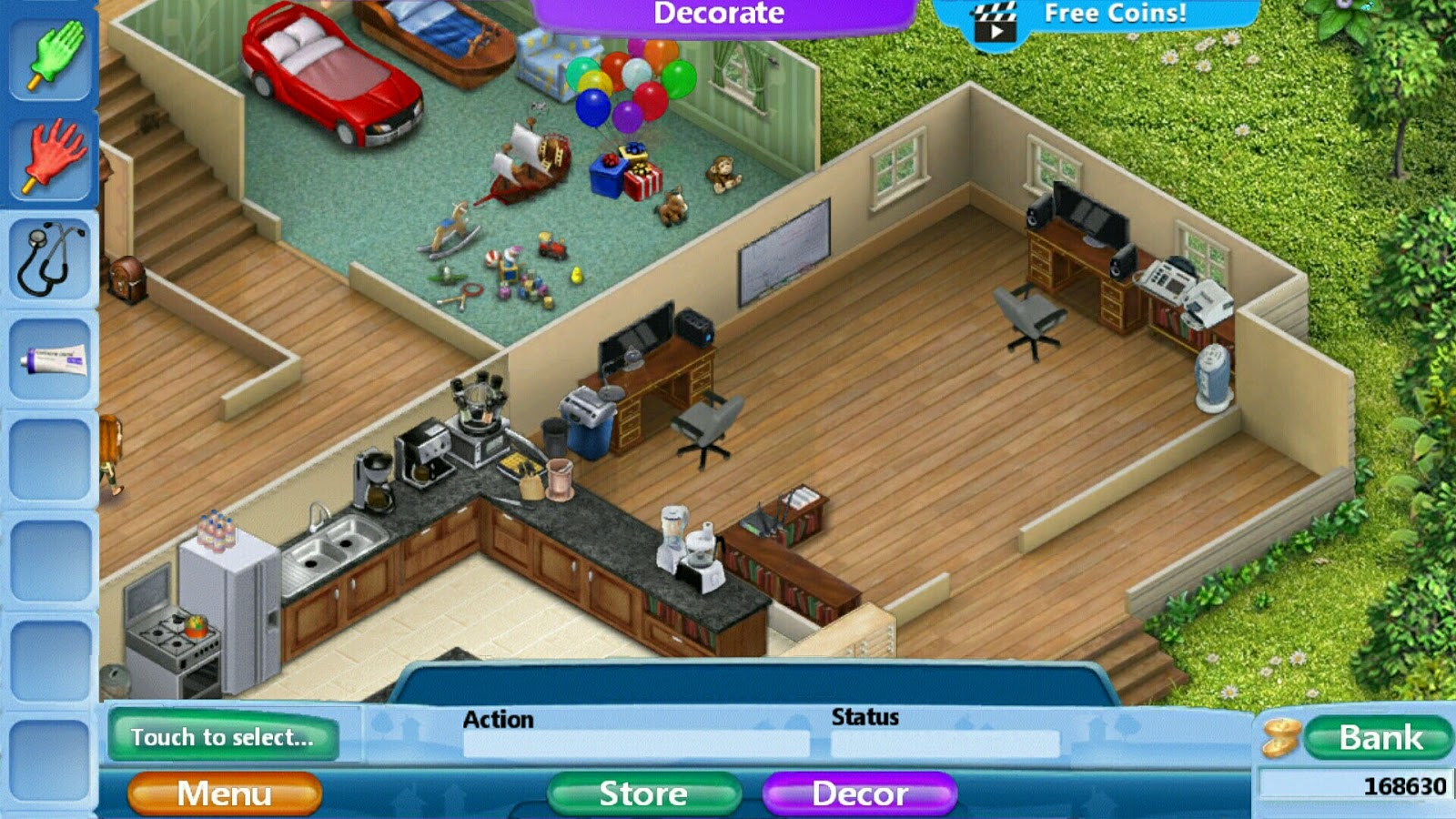 Virtual Families 2 Home Renovation Office Remodel (Pictures)