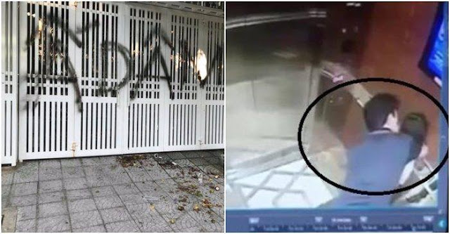 Vụ sàm sỡ bé gái trong thang máy: Nhà ông Linh bị ném chất bẩn, xịt sơn