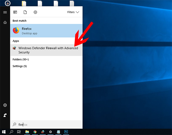 firewall in win10