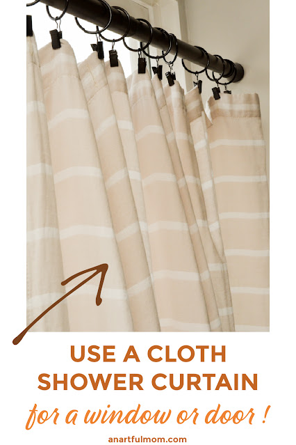 How to use a shower curtain as a window treatment