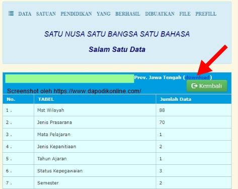Cara Download Prefill Dapodik