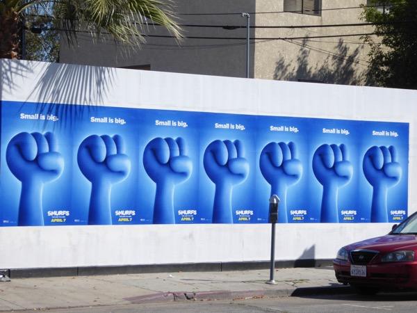 Smurfs Lost Village street posters