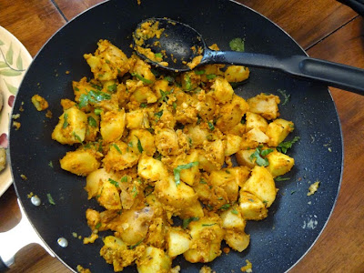 sukhi bhaji potatoes recipe